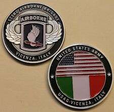 173rd Airborne Brigade Vicenza Italy Army Challenge Coin