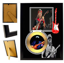 DIRE STRAITS  - A4 SIGNED FRAMED GOLD VINYL COLLECTORS CD DISPLAY PICTURE