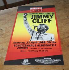 JIMMY CLIFF hanging fire tour '88 ORIGINAL Swiss Concert Poster ZURICH