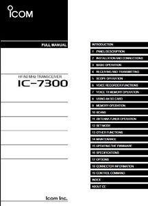 Icom IC-7300 Full Instruction Manual - Full Color