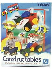 Tomy Constructables Toy Motorized Building Playset Turn Propellers Plane Wheels
