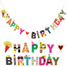 Multicolor Happy Birthday Banner Garland Hanging Bunting Wedding Party Decor