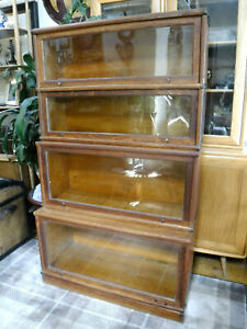 GLOBE WERNICKE STACKING Globe 4 SECTION BOOKCASE, ASSIST COURIER