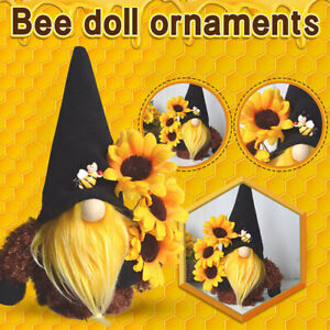 Bumble Bee Gnome Plush Toy Doll Gonk Dwarf Decoration Ornament Gift Bee Elfs