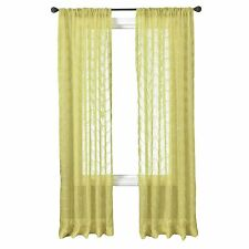 Diplomat Decor Tokelau 120-Inch Rod Pocket Panel, Lime