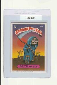 Garbage Pail Kids Beth Death 95b GPK 1986 Original Series 3 vintage copyright