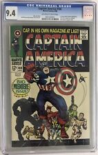 Captain America #100 CGC 9.4 OW-W 1968 1st Issue! Avengers! Black Panther App!
