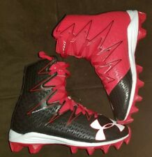 Under Armour Highlight Rm Clutchfit Football Cleats Boys 1Y Black Red White New