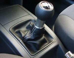 Cuffia leva cambio Volkswagen  Polo 9 vera pelle nera