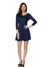 Perfect T Shirt Tunic Legging Top / Dress Fit and Flare 3/4 Sleeves Lg