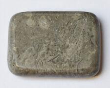 HOT/COLD STONE MASSAGE: Oblong Black Marble Stone, 7.5 x 5.5 x 1.5 cm