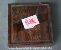 """7"""" Collect Old Chinese Huanghuali Wood Dynasty Palace Chess Set Box"""