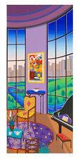 "FANCH LEDAN ""Salon Rotonde"" HAND SIGNED Limited Edition Serigraph 53/75EA w/ COA"