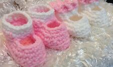 Handmade Clothes For 19 inch and 20 inch dolls.Crocheted Doll shoes.2 pairs