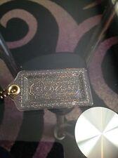 Coach Acrylic Clear Gold Glitter XL , Keychain Fob Hangtag