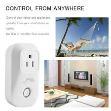 WiFi Mini Smart Plug Control from Anywhere Work w/Alexa UL FCC Timing Socket