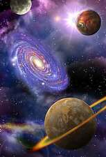 STUNNING PLANETS SPACE & STARS ABSTRACT CANVAS #12 GALAXY PLANETS SPACE CANVAS