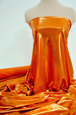 MYSTIQUE STRETCH SPANDEX FABRIC ORANGE SUNSTONE  BTY DANCE GYMNASTIC COSTUME