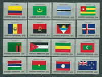 United Nations - New York Mail 1986 Yvert 467/82 MNH Flags