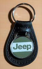 Jeep Keyring On Leather - Dimensions Emblem 29mm