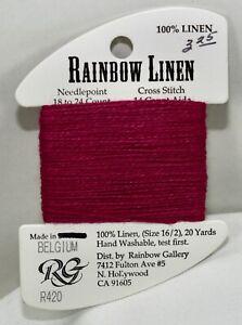 Rainbow Gallery Rainbow Linen 16/2 20 yards linen R420 raspberry red