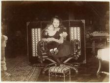 Photo Au Citrate Petite Fille Poupée Doll Jeux Jouet 1894