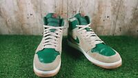 Nike Air Jordan High 1.5 sand dune Green Beige Suede Men's Size 9 UK 44 EUR
