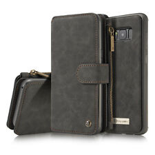 Galaxy S7 / S8 Plus Flip Wallet Leder Case Handy Tasche Schutz Hülle Bumper DECC