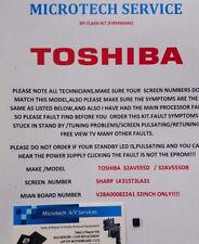 TOSHIBA 32AV555D 32AV555DB SHARP SCREEN LK315T3LA31  FIRMWARE REPAIR KIT SEE ADD