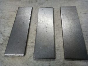 3x 200mm x 60mm x 6mm NON-PRIME Mild Steel Plate Offcuts. Fabrication Welding