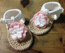 Sandalias 3/6 Meses Zapato  Alpargatas Patucos Bebe Hilo Algodón Recién Nacido