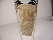 Tiger Beer Asian Lager Tall Beer Glass Black Dragons White Logo