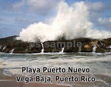 Puerto Rico - Vega Baja Playa Puerto Nuevo - Flexible Fridge Magnet