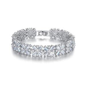 Super Twinkling Top Quality All Cubic Zirconia CZ Bangle Bracelet Wedding Party
