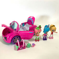 SHOPKINS Happy Places Bearry Fun Convertible - Custom Bundle - Car & Figures
