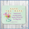 50 X PERSONALISED MAGNETIC SAVE THE DATE/DAY CARDS WITH ENVELOPES