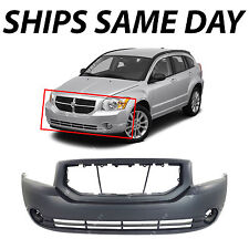 NEW Primered - Front Bumper Cover Fascia For 2007-2012 Dodge Caliber With Fog