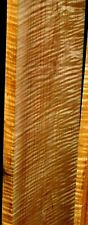AWESOME WIDE EXTREME BOARD!!!! RARE WIDER FULL HEAVY TIGER CURLY MAPLE LUMBER