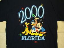 Disney Mickey Unlimited Movie Characters Florida 2000 Y2K Black T Shirt M / L