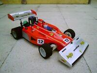 S0712 - FERRARI F1 312 B3 SCALA 1/8 GP RC CAR BODY 295mm
