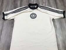 D7 Vintage Adidas 3 Stripe Trifoil Embroidered Logo Short Sleeve Shirt USA S