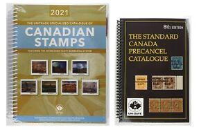 2021 Unitrade Canadian Stamps +new Canada Precancel 8th ed -Special duo price!