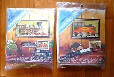 2 Vtg Spinnerin Needlepoint Kits, Train, Railroad Engine & Caboose-companion set