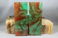 COPPER GREEN CUSTOM COMPOSITE KNIFE HANDLE MATERIAL BLANK SCALES (8)