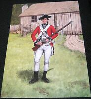 Militaria Postcard The Scots Guard 3rd Foot Guards 1777 Bryan Fosten - used