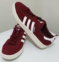 ADIDAS Men's ORIGINALS CAMPUS Shoes Sneakers Burgundy US10 UK9.5 Suede Skate
