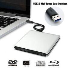 Extern DVD CD Blu-Ray Brenner Leser Schreiber Laufwerk USB 3.0 für PC Laptop