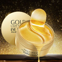 Gold Hydrogel Eye Patches Collagen Eye Mask for Puffy Dry Eyes Dark Circles Bu