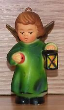 Vintage Genuine Kurt S. Adler Green Nightgown Sleepy Angel Christmas Ornament