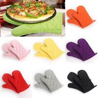 Oven Gloves Kitchen Cooking Pot Holder Thick Heat Resistant Mitt Mittens